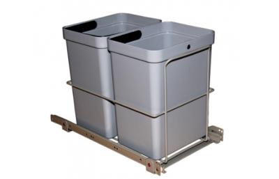 Корзина выдвижная для мусора 2x10L