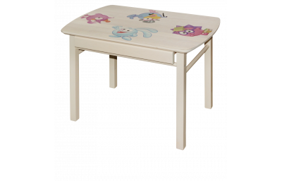 Children's table with drawer