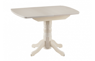 Sliding dining table with oval cover massive