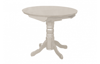 Sliding dining table with round lid massive