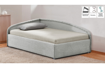 Bed with lift mechanism Corner