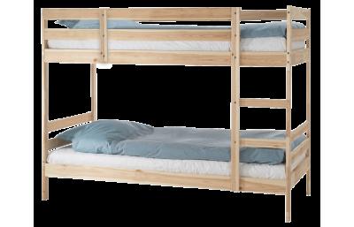 Двухъярусная кровать массив Пирус для покраски