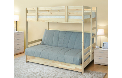 Кровать массив с диван-кроватью