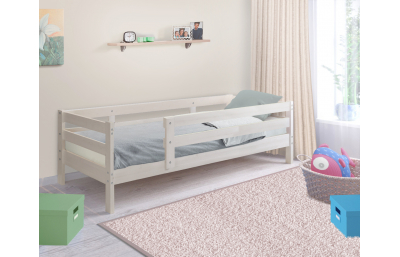 Massive children's bed with a side