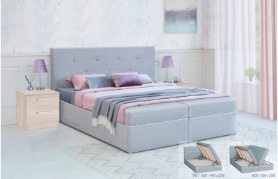 Bed with a lifting mechanism Duet