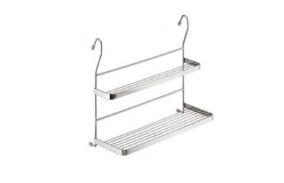 Hinged shelf for double railing
