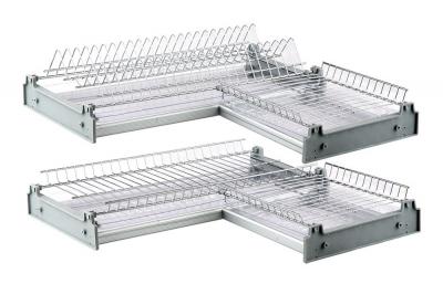 Corner dish rack
